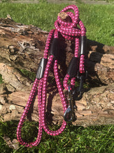 Load image into Gallery viewer, Pink Checkered Rope Lead