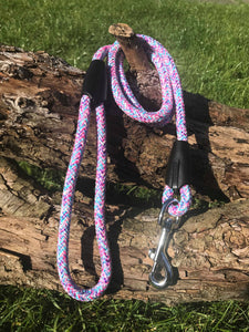 Pink Swirl Rope Lead