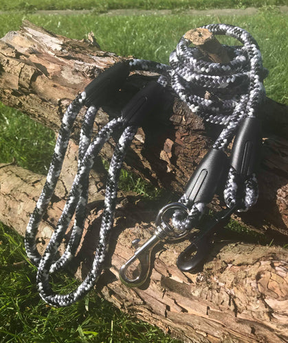Black and White Camo Rope Lead