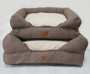 *New Style* The Lounger Bed - Brown/Gold