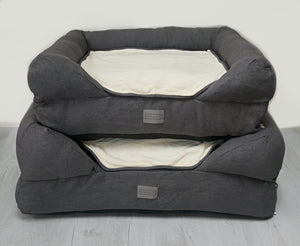 *New Style* The Lounger Bed - Charcoal/Cream