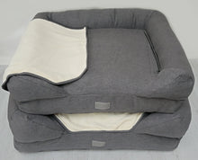 Load image into Gallery viewer, *New Style* The Lounger Bed - Charcoal/Cream