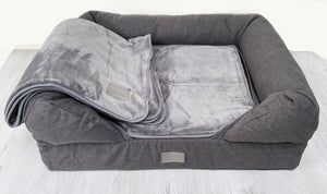 Cosy Plush Dog Blanket - Grey