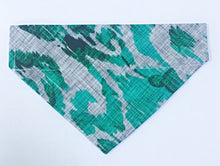 Load image into Gallery viewer, Turquoise Animal Print Bandana