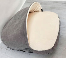 Load image into Gallery viewer, *New Style* Luxury Cosy Cave Bed - Grey/Cream