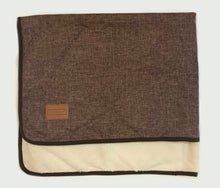 Load image into Gallery viewer, Dog Blanket - Dark Brown/Cream