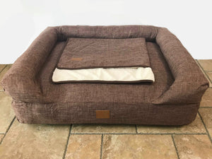 The Lounger Bed - Dark Brown