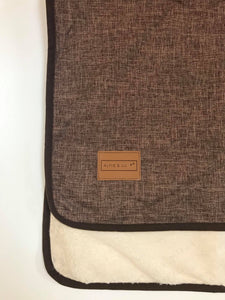 Dog Blanket - Dark Brown/Cream