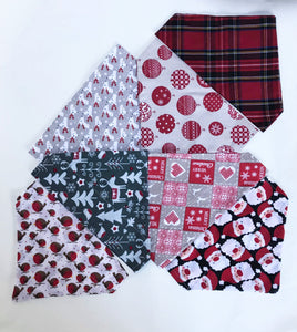 French Christmas Patchwork Bandana