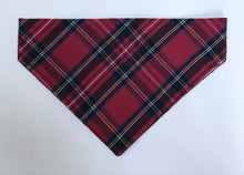Load image into Gallery viewer, Red Tartan Christmas Bandana