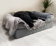 Load image into Gallery viewer, The Waterproof Lounger Bed - Blue Grey