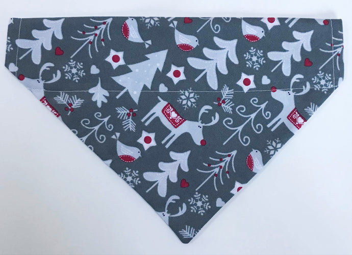 Reindeer in the Forest Christmas Bandana