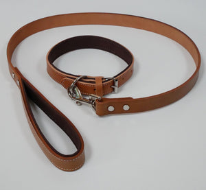 Genuine Leather Dog Lead - Tan