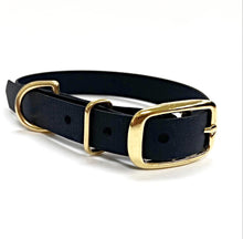 Load image into Gallery viewer, Biothane Waterproof Collar - Black/Brass