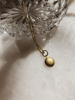 Engraved Delicate Dome Necklace