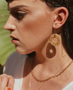 Two in One Rattan Hook Earrings