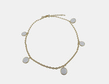 White Disc Anklet