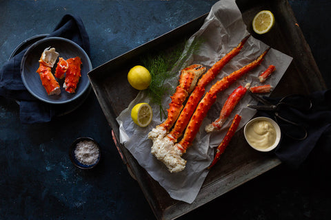 Cooked Wild Red King Crab Cluster | FINE & WILD UK
