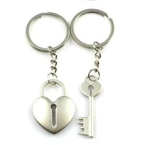 Couple's Key To My Heart Puzzle Zinc Alloy Keychain - Jonathan - Pinklouds