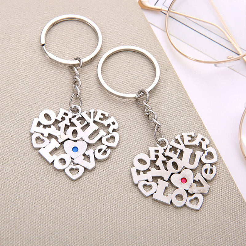 Couple's Zinc Alloy Keychain - Mortier - Pinklouds