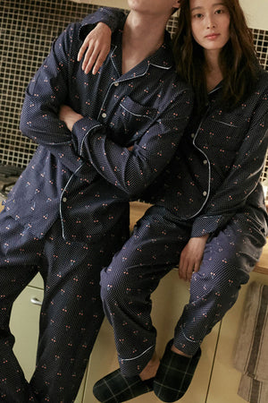 Comfortable Cotton Couple Pajamas - Naves - Pinklouds