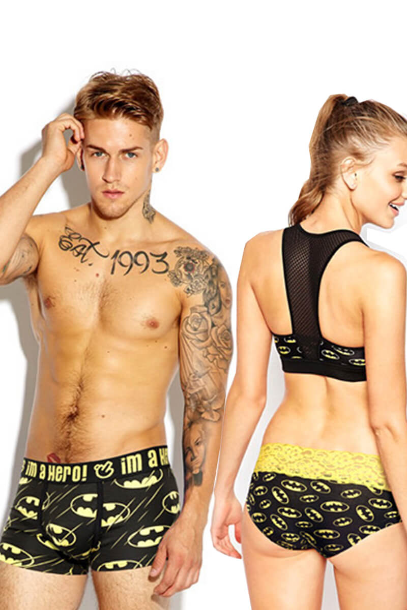 Fashion Printed Couple Matching Underwear - Michel - Pinklouds