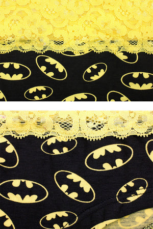 Batman Superhero Couple Matching Underwear - Black - Pinklouds
