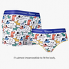 Colorful Dogs Ice Silk Couple Underwear-His & Her Matching Apparel-Pinklouds