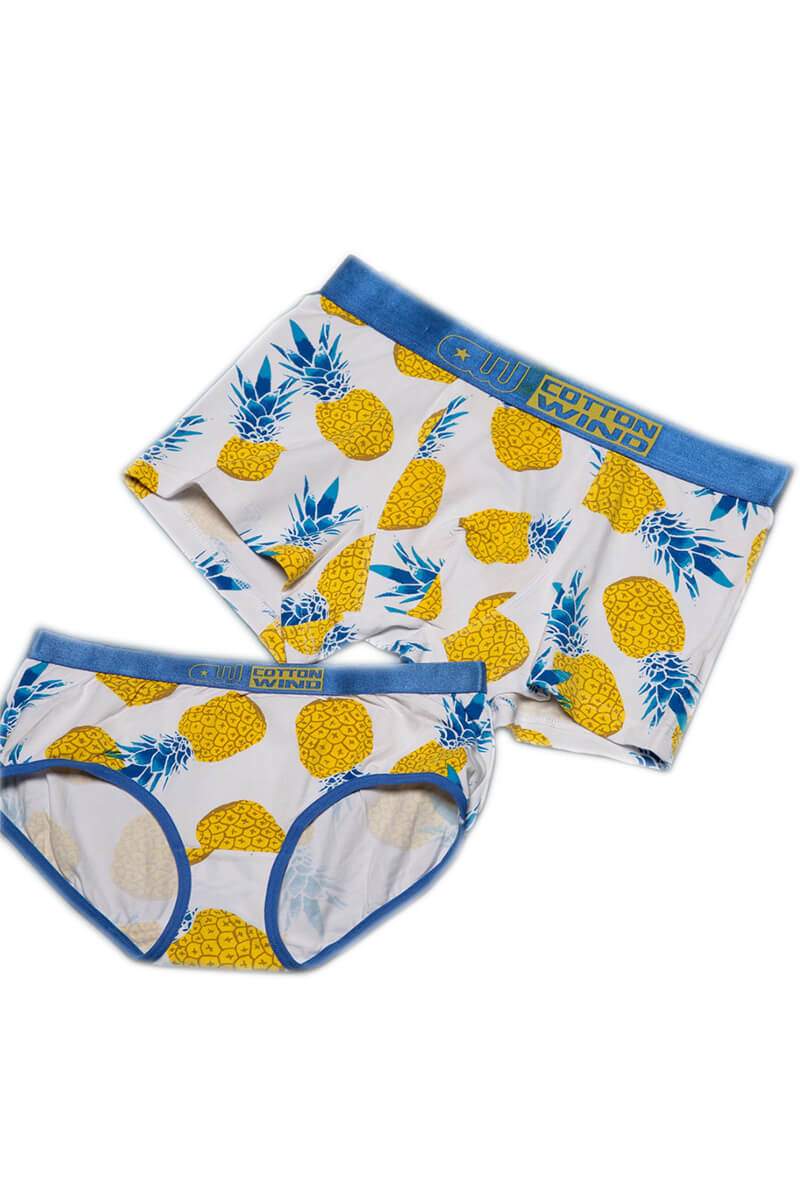 Pineapple Printed Couple Matching Underwear - Meuret - Pinklouds