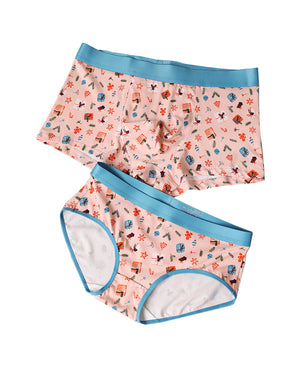 Cotton Couple Underwear - Gift-His & Her Matching Apparel-Pinklouds