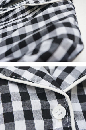 Gingham Couple Pajamas - Babs and Zachariah - Pinklouds