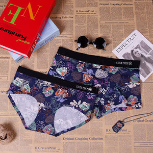 New style worsted cotton personalized briefs printed cotton briefs