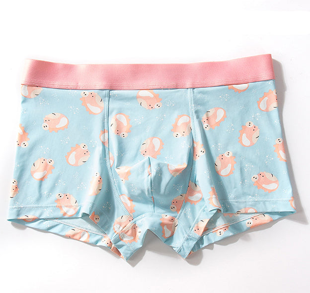 Ice Silk Feeling Couple Matching Underwear - Pink Pig - Pinklouds