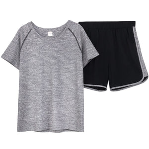 Pairs pajamas summer cotton short-sleeved shorts casual ladies loose size men's home wear suit