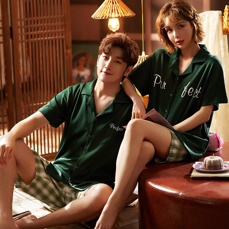 Penteet Couple T-shirt & Shorts Matching Pajama