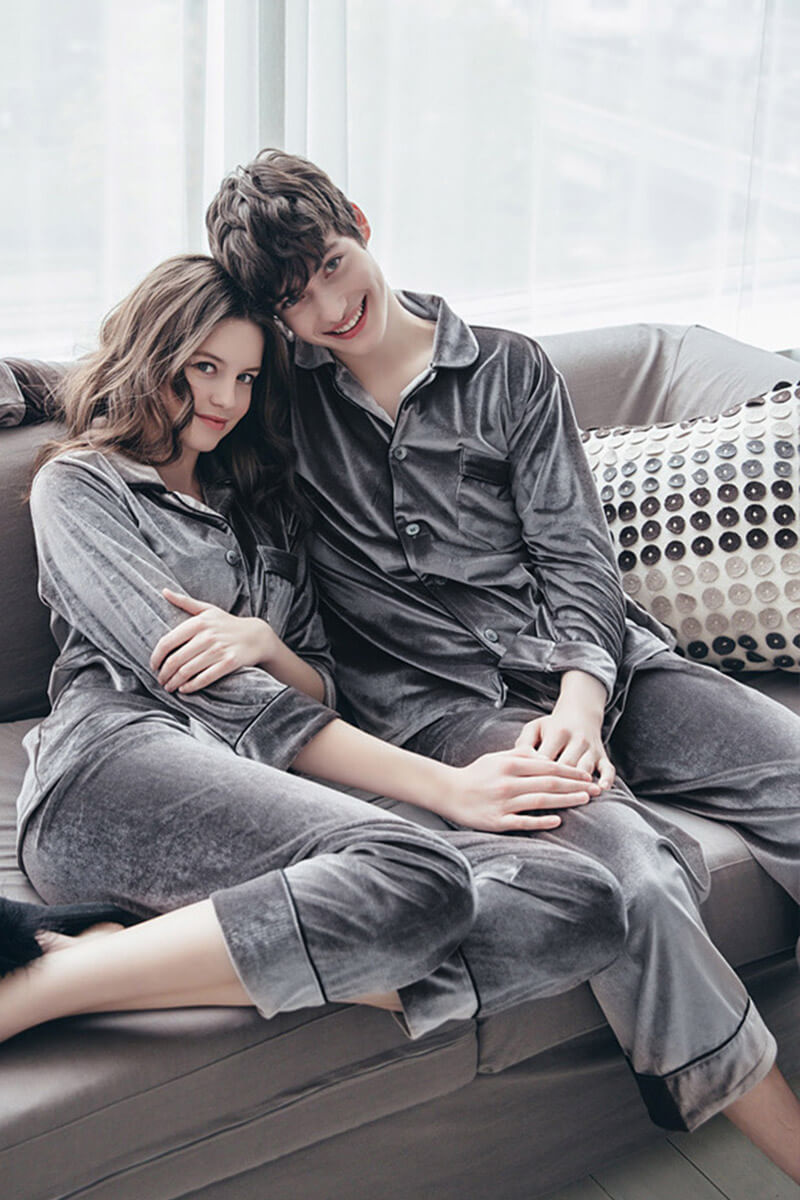 Silky Couple Pajamas Set - Jack & Jill