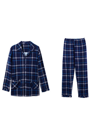 Cotton Plaid Couple Matching Pajamas - Quay - Pinklouds