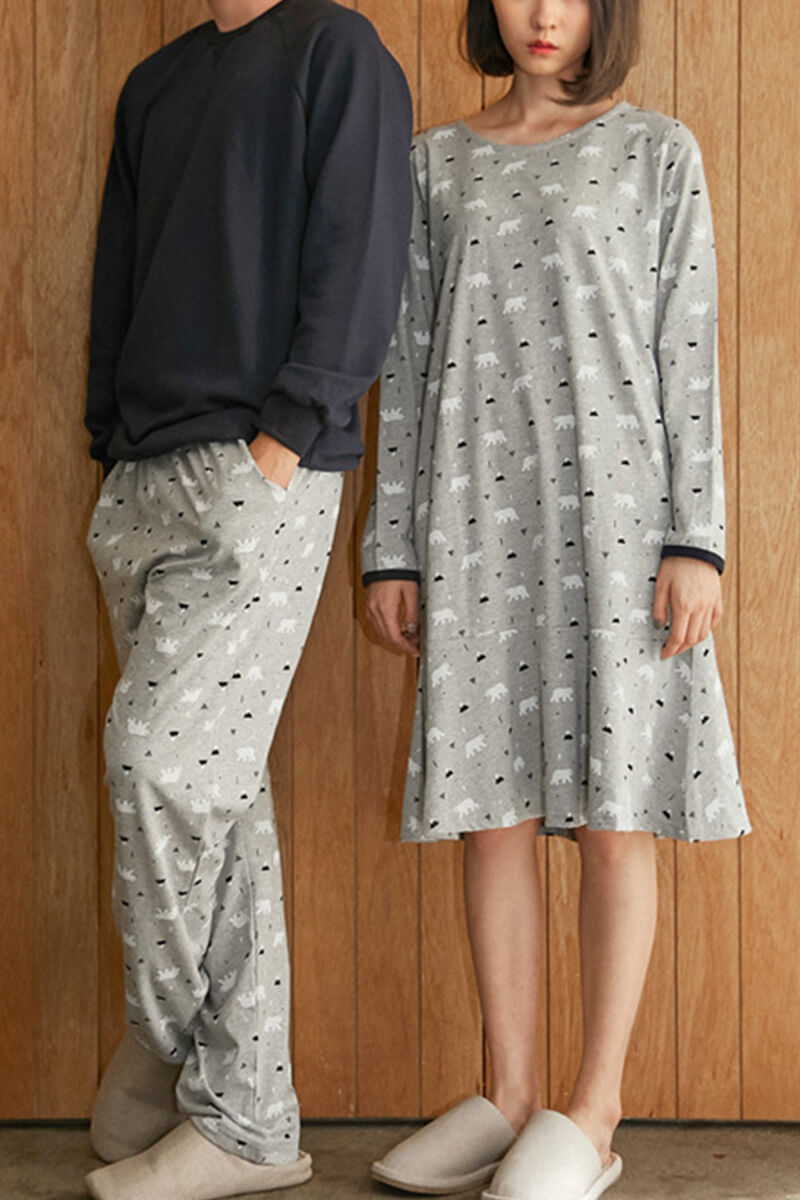 Colorblock Couple Pajamas - Griselda and Ballard - Pinklouds