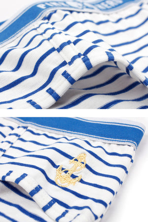 Blue Stripes Couple Matching Underwear