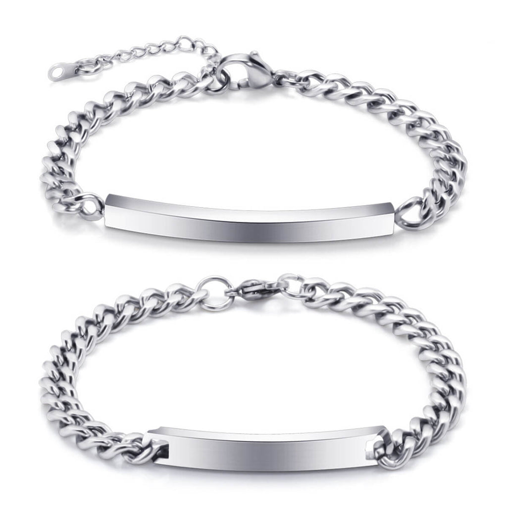 Couple's Titanium Steel Custom Bracelet - Savannah - Pinklouds