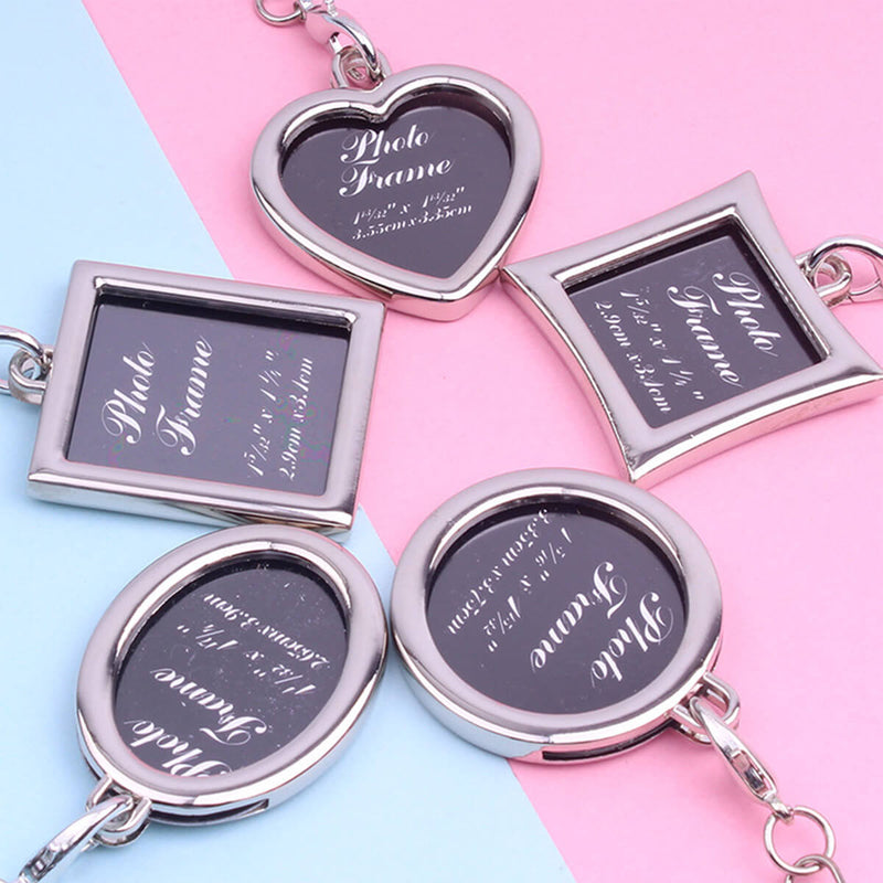 Couple's Photo Frame Zinc Alloy Keychain - Madeline - Pinklouds