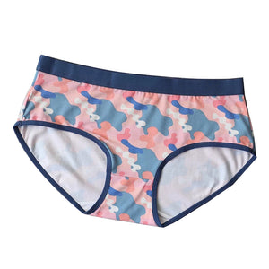 Ice Silk Pink Camo Couple Underwear - Pinklouds