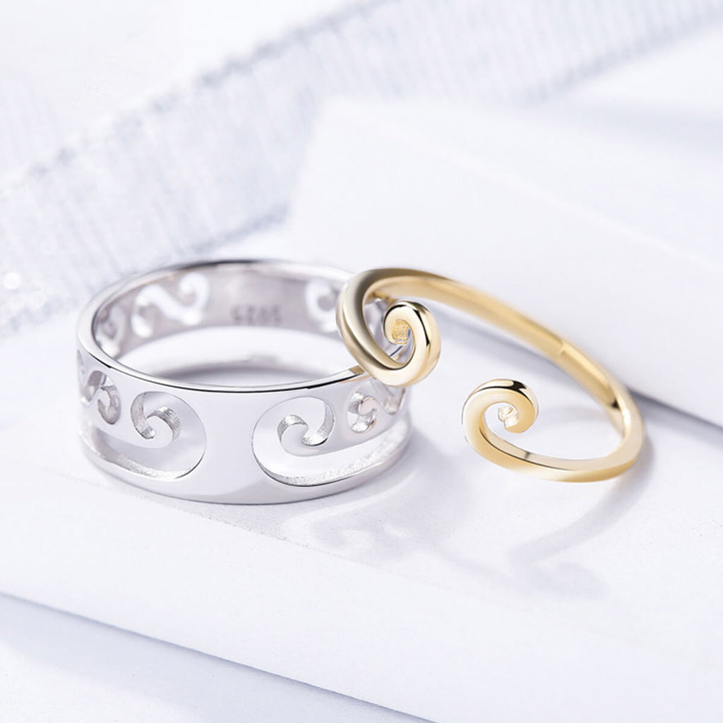 Couple's 2 in 1 Tightening Spell Promise Ring - Cecilia - Pinklouds