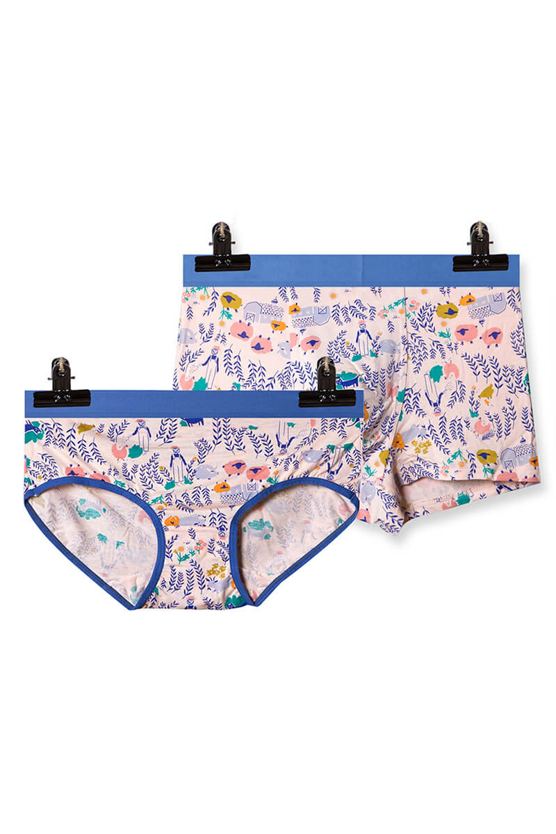 Cartoon Printed Couple Matching Underwear - Toups - Pinklouds