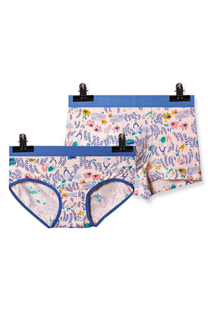 Floral Couple Underwear-His & Her Matching Apparel-Pinklouds
