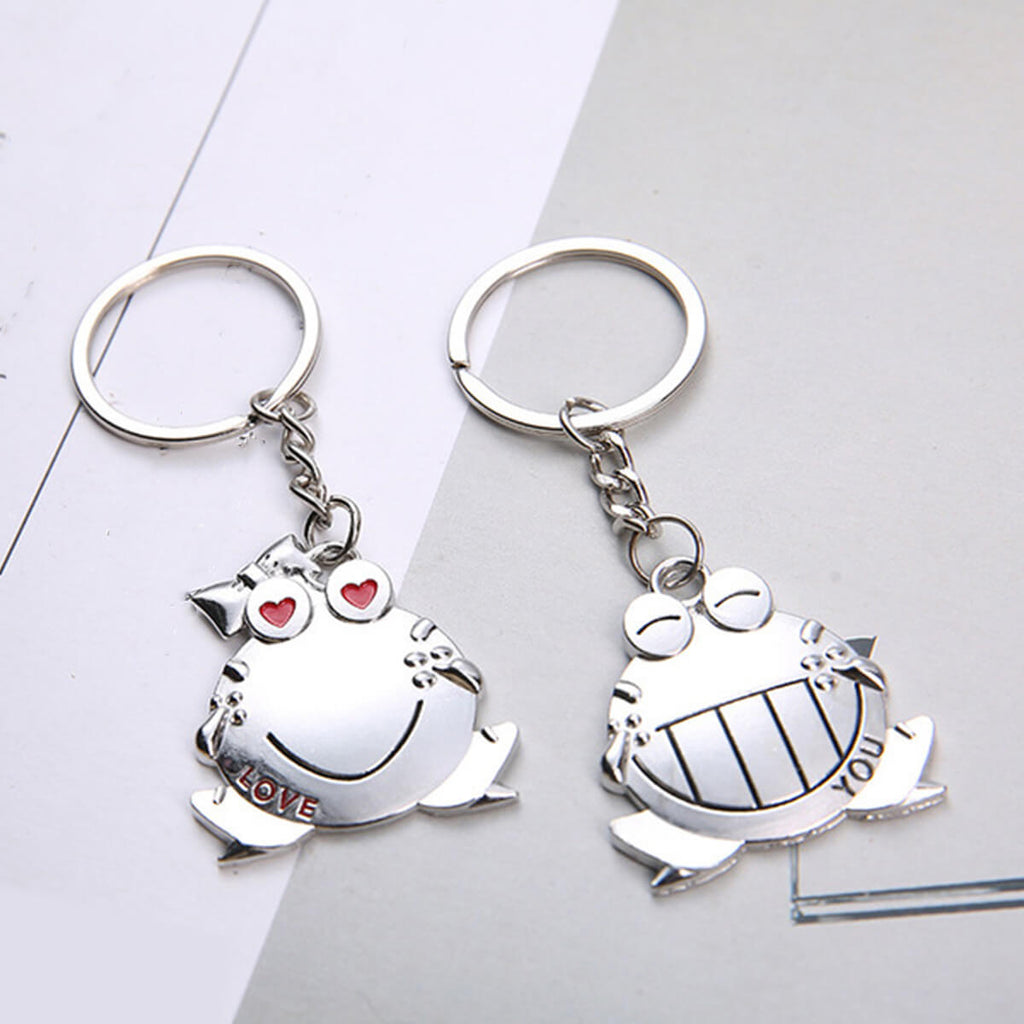 Couple's Zinc Alloy Keychain - Morton - Pinklouds