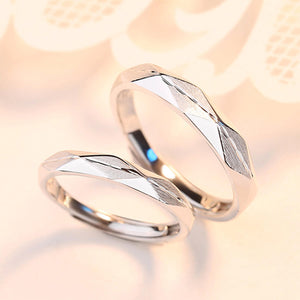 Couple's Adjustable Geometric Rhomb Promise Ring - Louise - Pinklouds