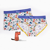 Colorful Dogs Ice Silk Couple Underwear