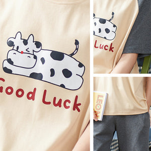Cotton Lucky Cow Matching Pajama