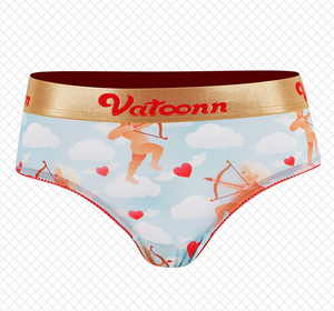 Cupid Arrow of Love Ice Silk Couple Underwear-His & Her Matching Apparel-Pinklouds